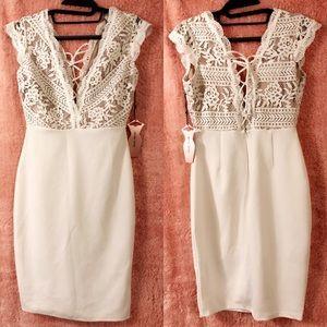 Dresses & Skirts - A beautiful lace topped white dress